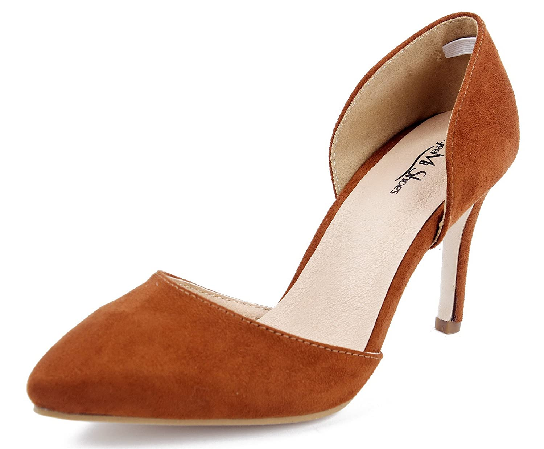 AgeeMi Shoes Mujeres Tacón de Aguja Sin Cordones Puntera EN Punta de Salón