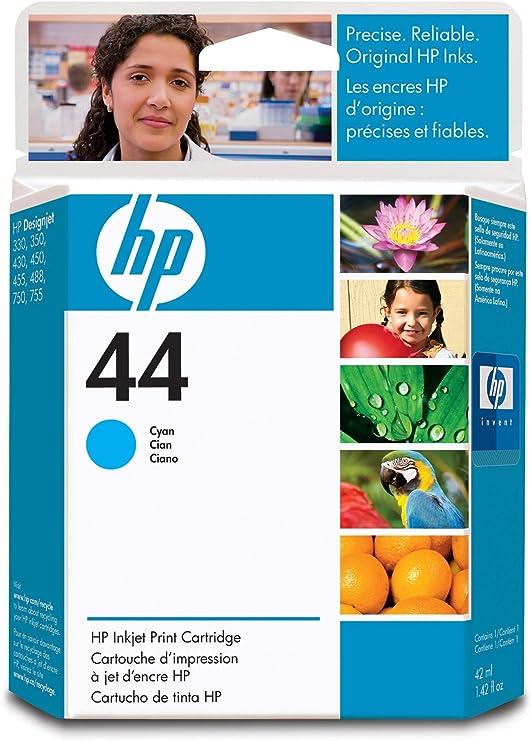Cartucho de impresión cian Inkjet HP 44, color Cian: Amazon.es ...