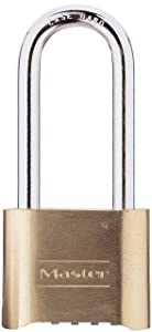 Master Lock 175DLH Set Your Own Combination Padlock 2-1/4 in. Shackle Brass Finish