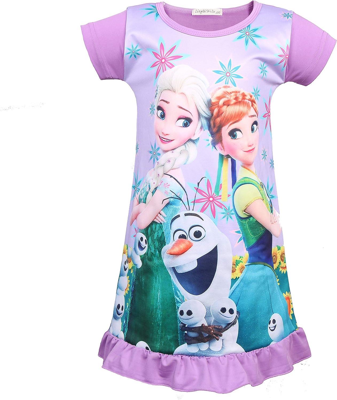 LMM Bbay Girls Princess Pajamas Toddler Nightgown Dress