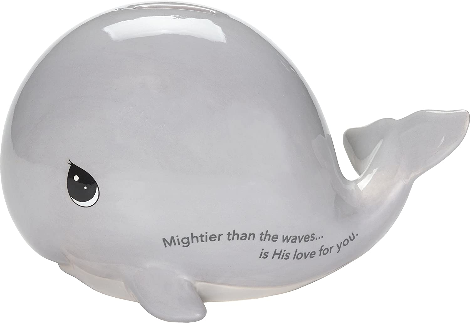 Precious Moments Mightier Than The Waves Ceramic Whale Bank, One Size, Multi