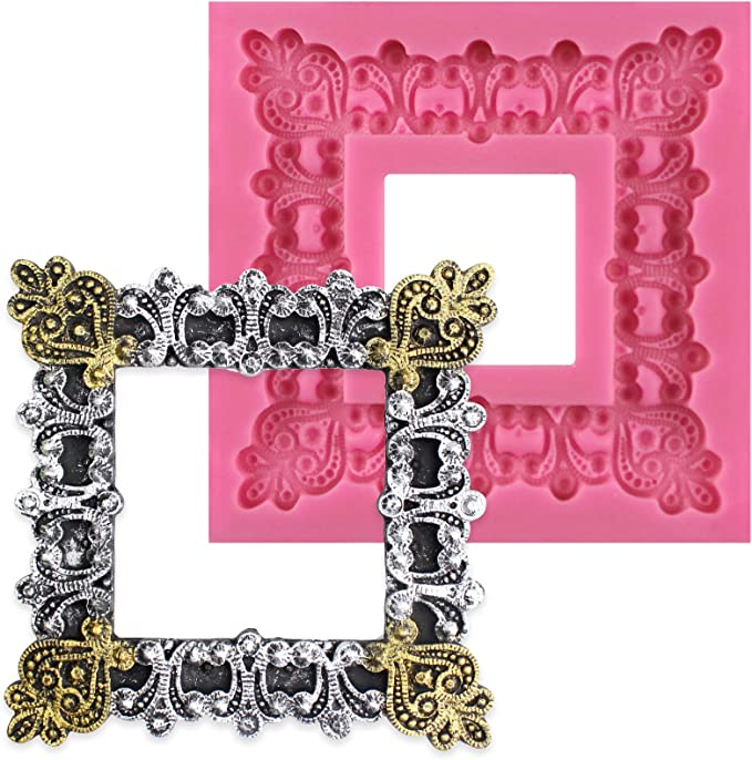 Phot Frame Mold DIY Silicone Picture Frames Mould Photo Frame Resin Mold Tools
