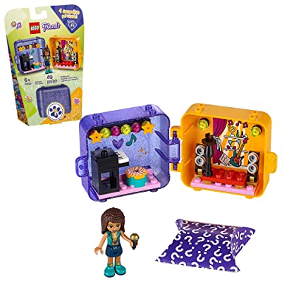 LEGO Friends Andrea's Play Cube 41400 Building Kit, Includes a Pop Star Mini-Doll and Toy Pet, Sparks Creative Play, New 2020 (49 Pieces): Toys & Games