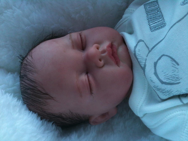 Amazon.es: Reborn bebé muñeca, Heavy, 19 cm de largo, con pelo y ...