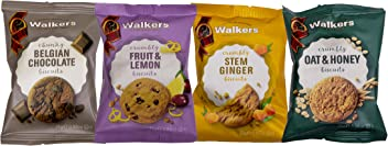 Walkers Shortbread, Snack Packs Scottish Cookie Assortment #5155, 0.88 Ounce (100 Count