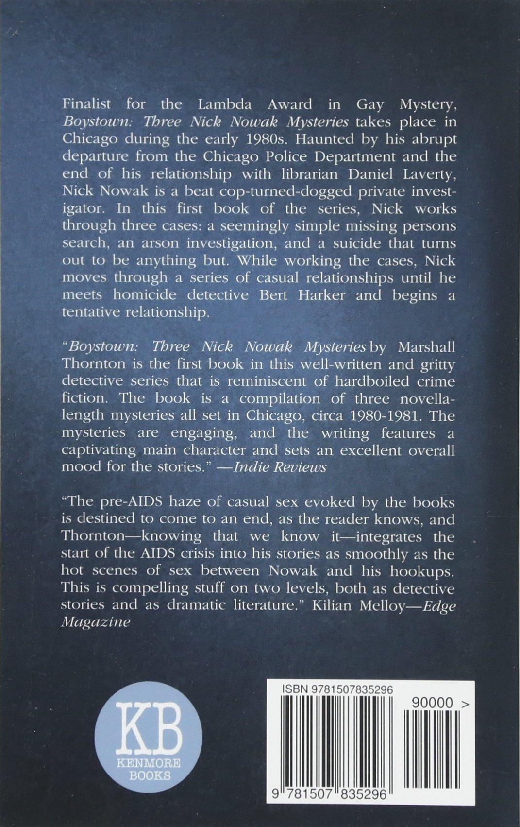 Amazon.com: Boystown : Three Nick Nowak Mysteries (Boystown Mysteries)  (Volume 1) (9781507835296): Marshall Thornton: Books