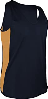product image for TR-980-CB Men's Performance Athletic Light Single Ply Track Singlet with Side Panels (Large, Navy/Gold)