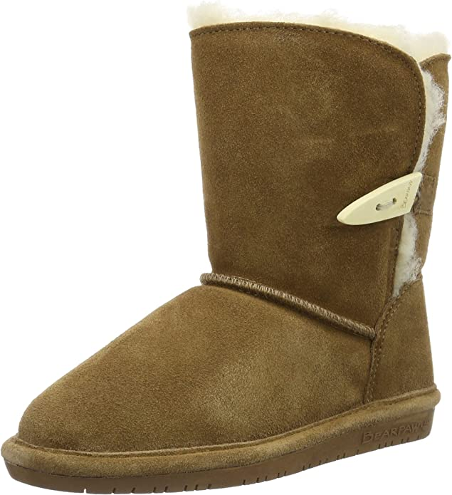 Youth Bearpaw Abigail 682Y Suede Black 100/% Authentic Brand New