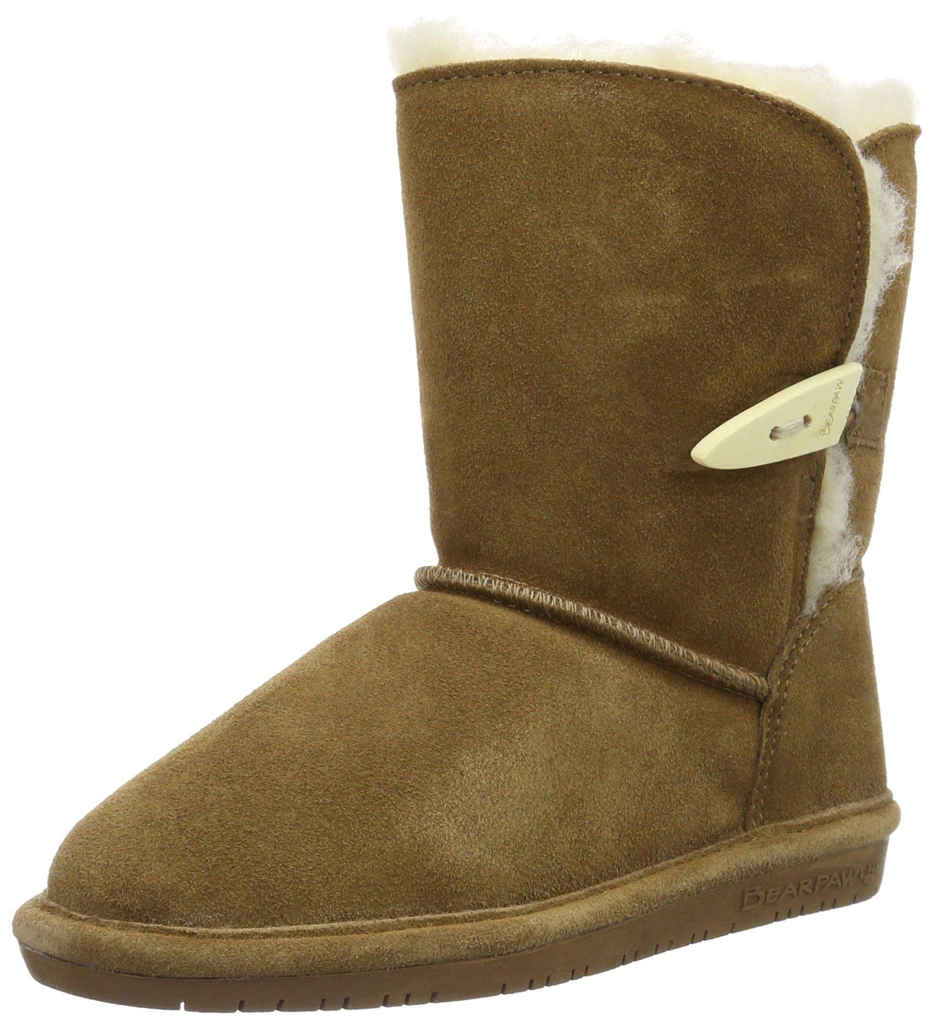 BEARPAW Kid's ABIGAIL YOUTH Boot, hickory ii, 4 M US Big Kid