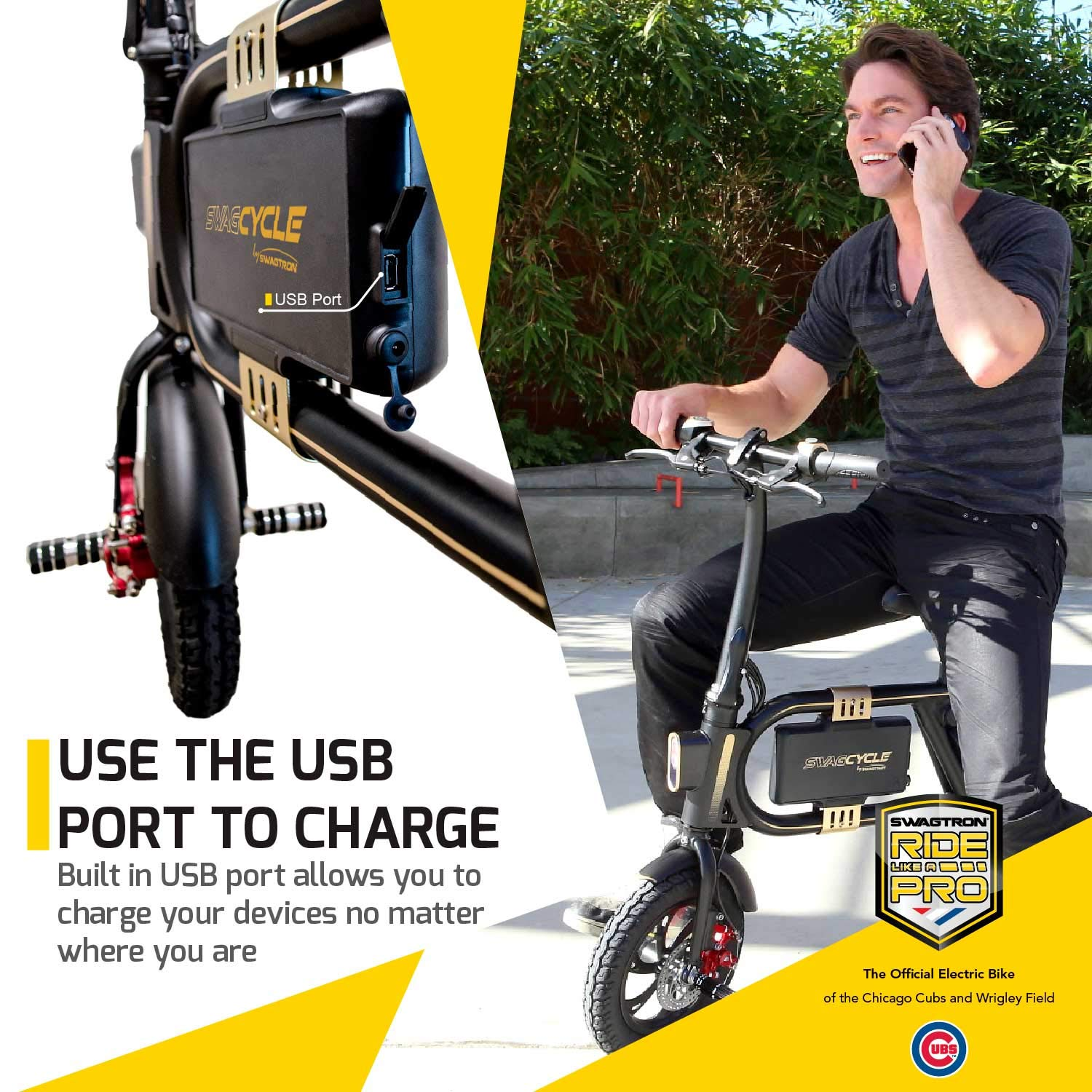 a4dab1ca323 Amazon.com   Swagtron SwagCycle Classic E-Bike - Folding Electric Bicycle  with 10 Mile Range