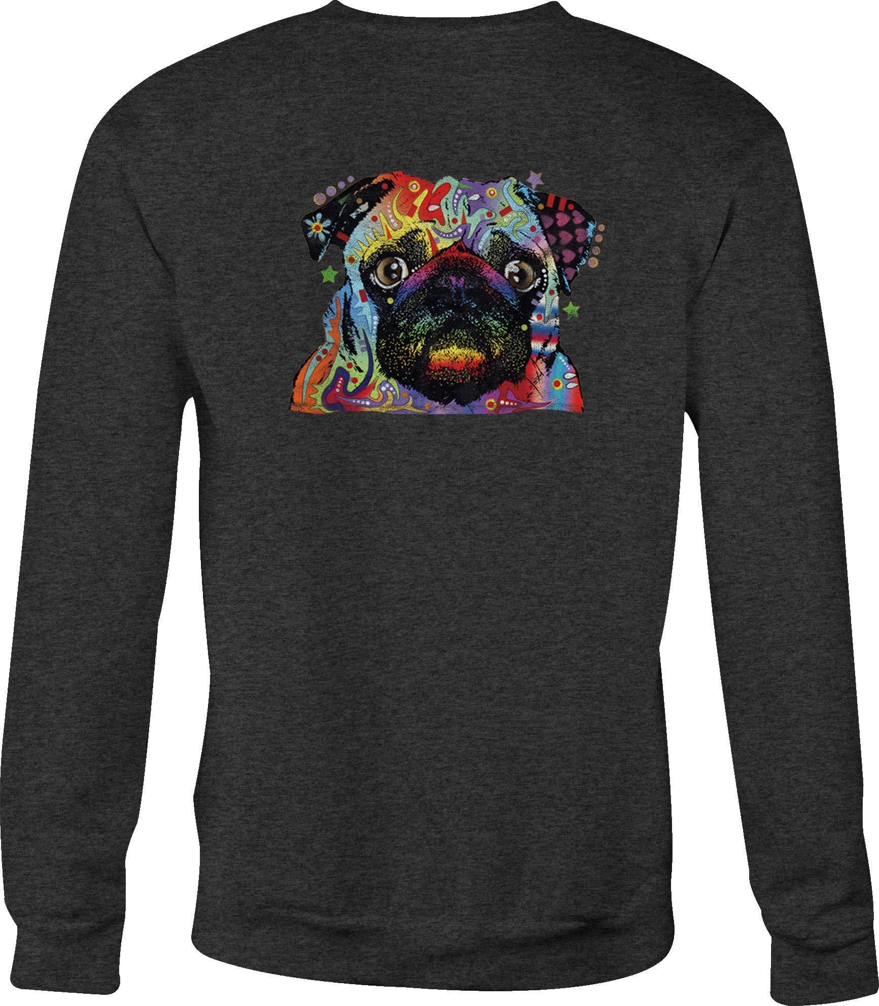 Hoody Skull Crewneck Pug Dog For Or 8976 Shirts