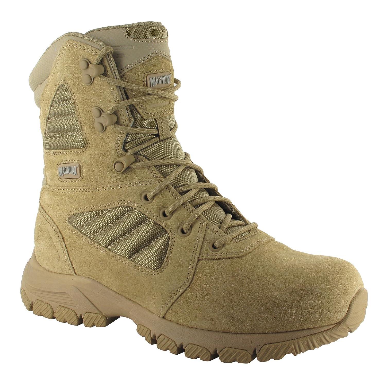 HI-TEC Magnum Lynx 8.0 Desert Tan Side Zip Schuhe Herren Boots Ranger Security Polizei Paintball Neu