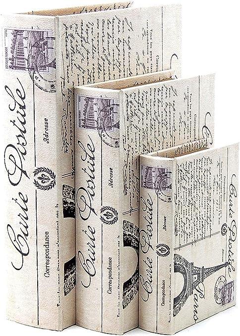 Diseño de libro de madera caja: Amazon.es: Hogar