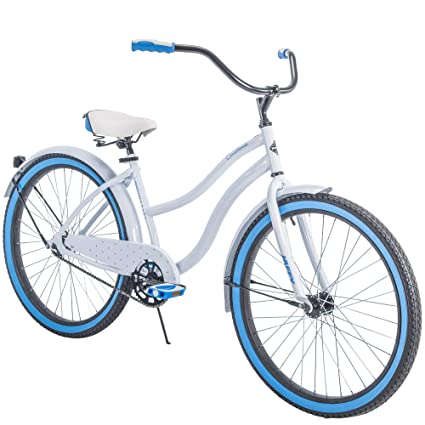 """088d02a3723 Huffy 26"""" Womens' Cranbrook Cruiser Bike with Perfect Fit Frame, White"""