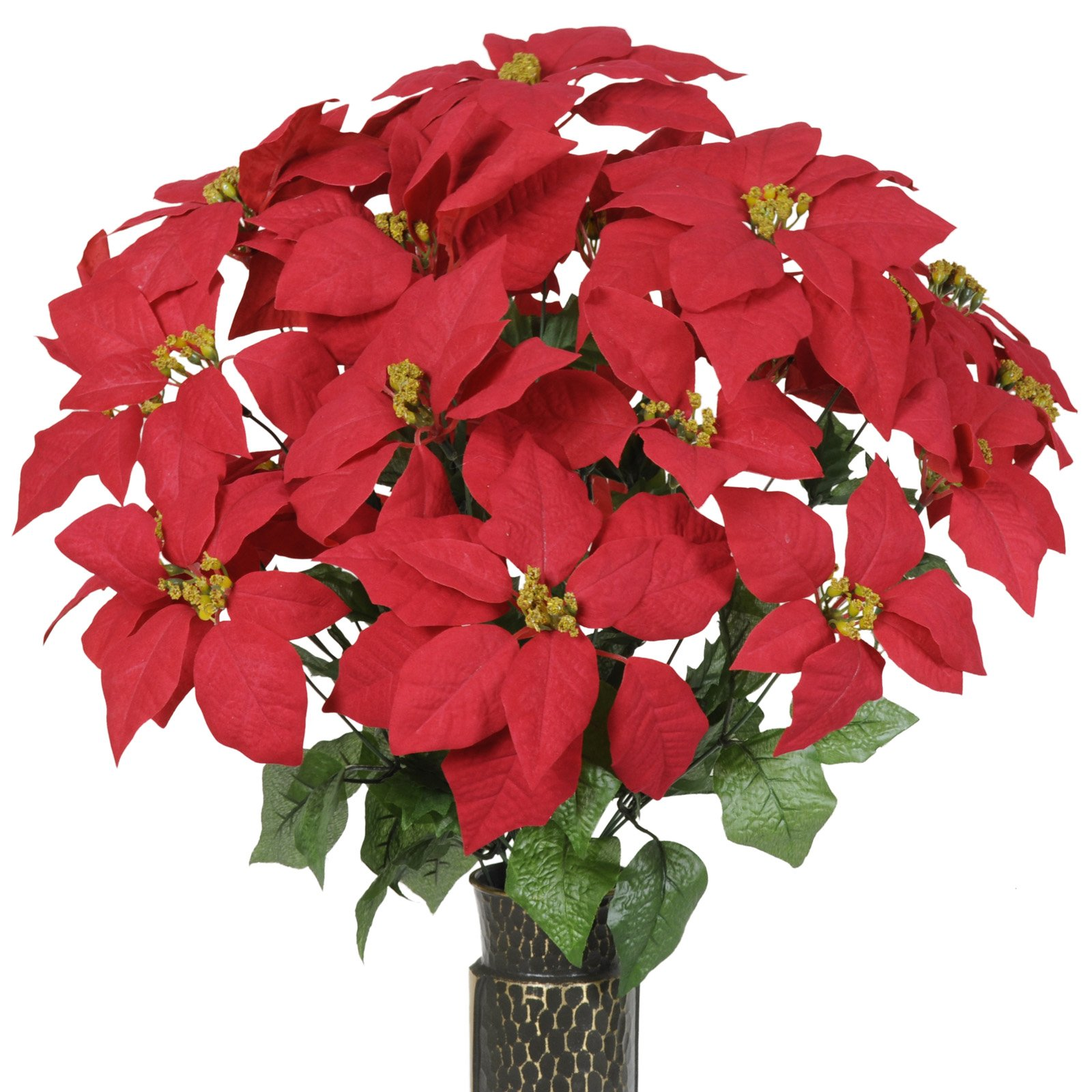 Red-Poinsettia-Artificial-Bouquet-featuring-the-Stay-In-The-Vase-Designc-Flower-Holder-LG1019