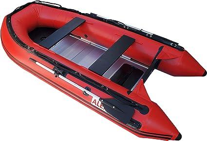 Amazon.com: Aleko Rojo Inflable Barco 10.5 patas aluminio ...