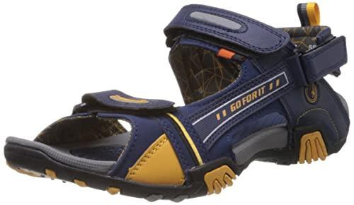 a2324e92340 Image Unavailable. Image not available for. Colour  Sparx Men s Navy Blue  and Yellow Athletic and Outdoor Sandals ...