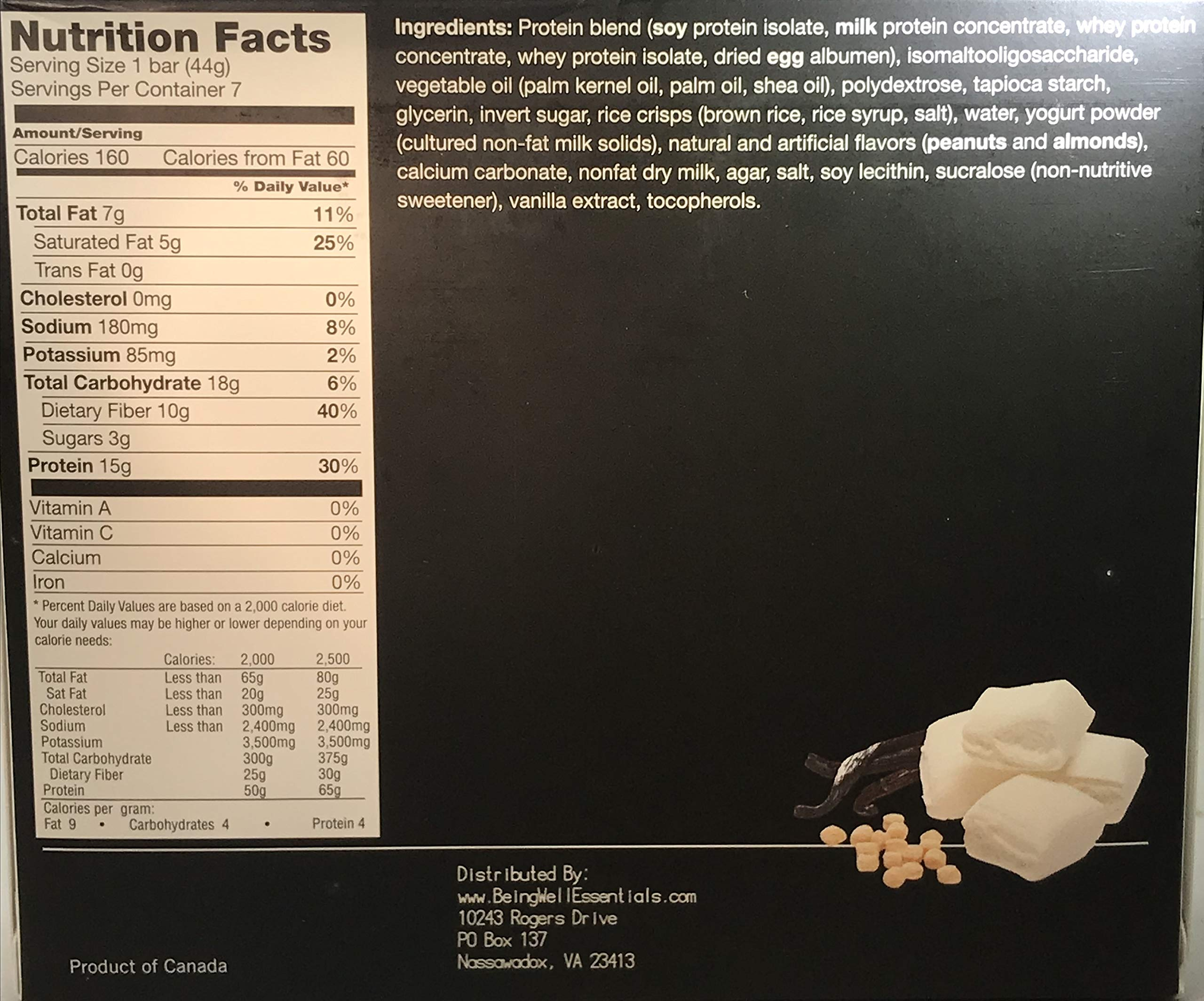 Proti Kind Very Low Carb Fluffy Vanilla VLC Bars - Full CASE - 84 Bars by Being Well Essentials (Image #2)