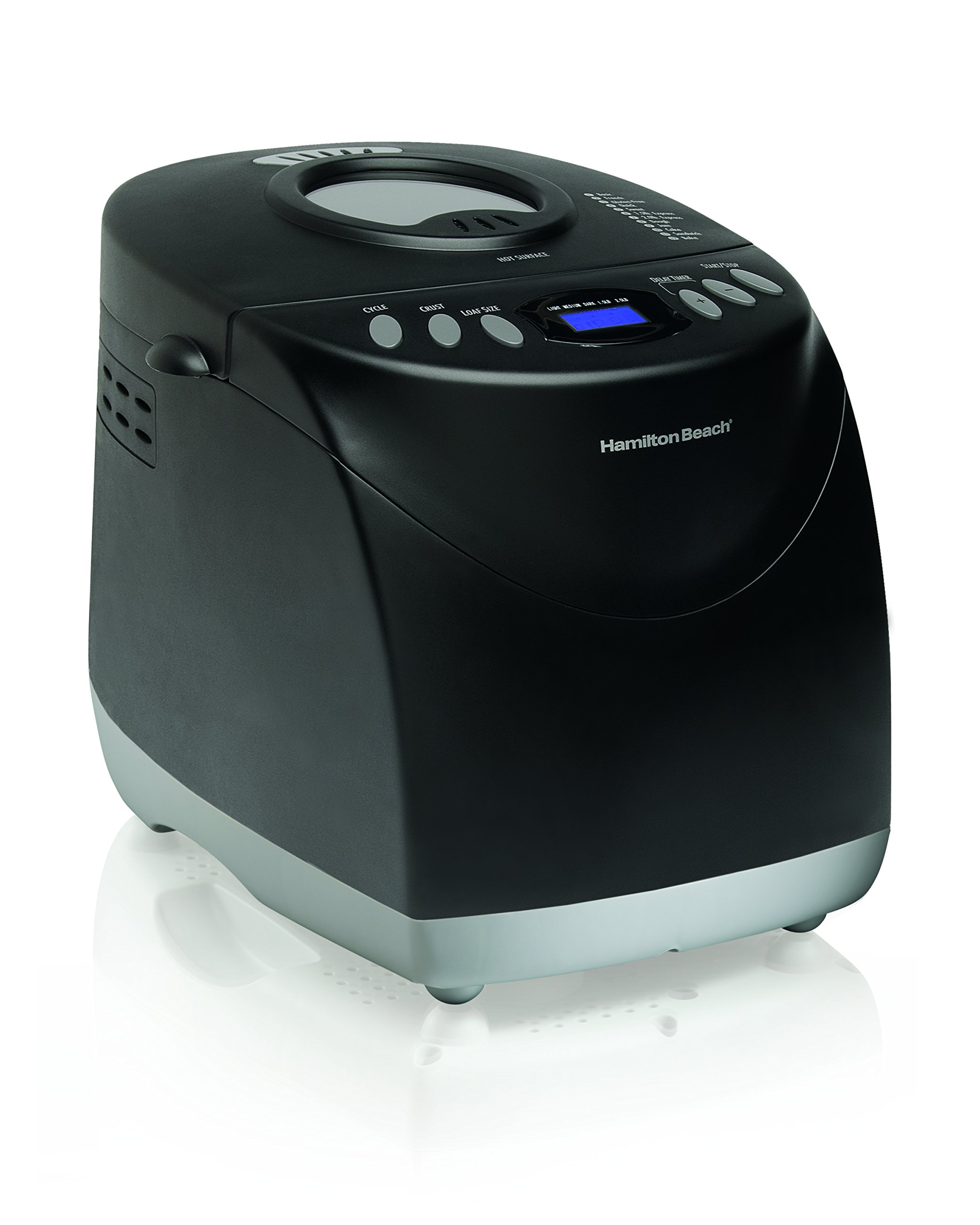 Hamilton Beach (29882) Bread Maker, 2 Pound Capacity Bread Maker machine, Gluten Free Setting, Programmable, Black