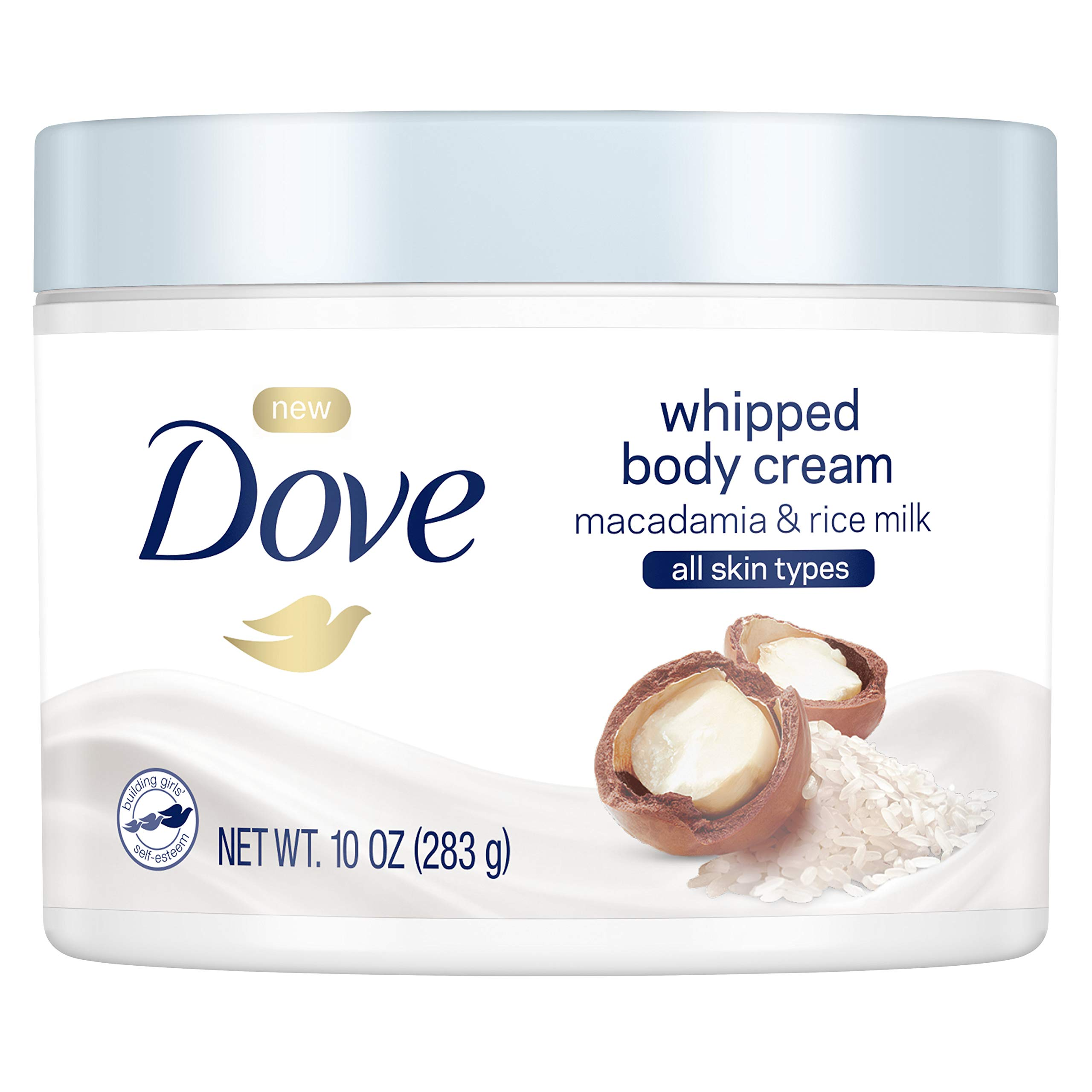 Dove Whipped Macadamia and Rice Milk Body Cream 10 oz