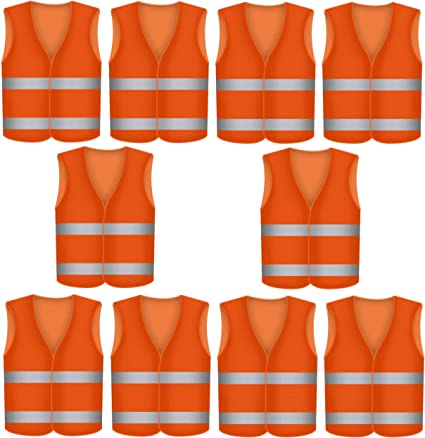 Chaleco reflectante naranja para accidentes de coche lavable chaleco reflectante de seguridad KFZ EN 471 no se arruga