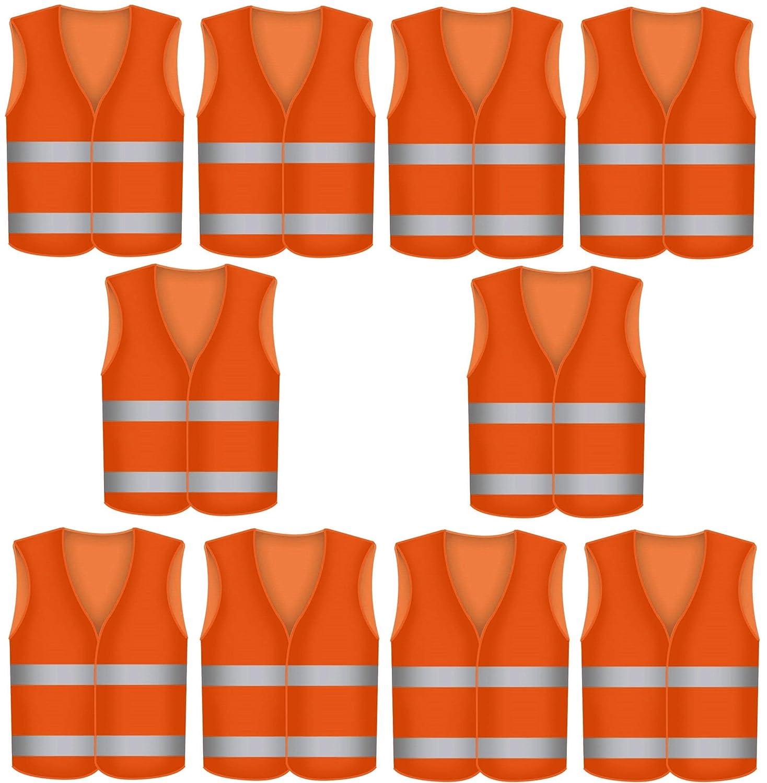 Gilet ad alta visibilità arancione, per incidenti e sicurezza EN 471, ingualcibile, lavabile STAR-LINE®