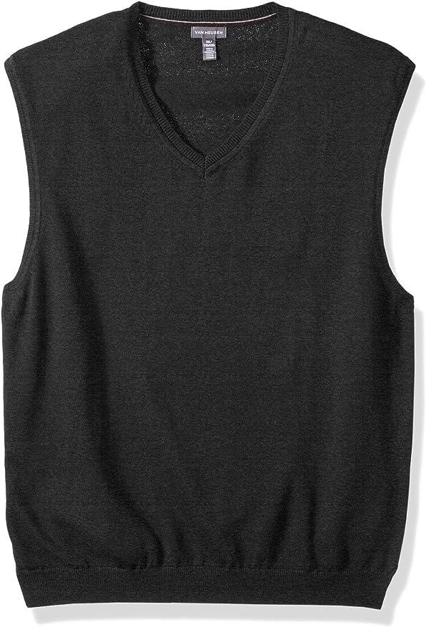 Van Heusen Mens Solid Jersey Sweater Vest 5056692