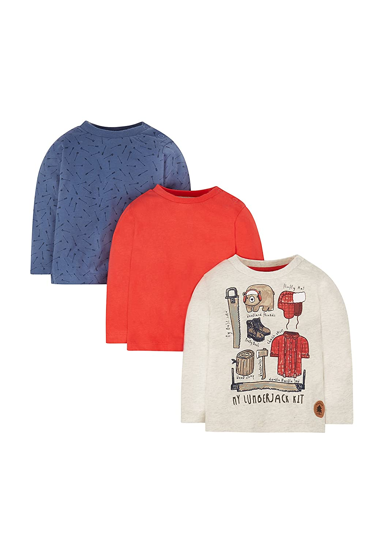Mothercare Lumberjack T-Shirts - 3 Pack MC715