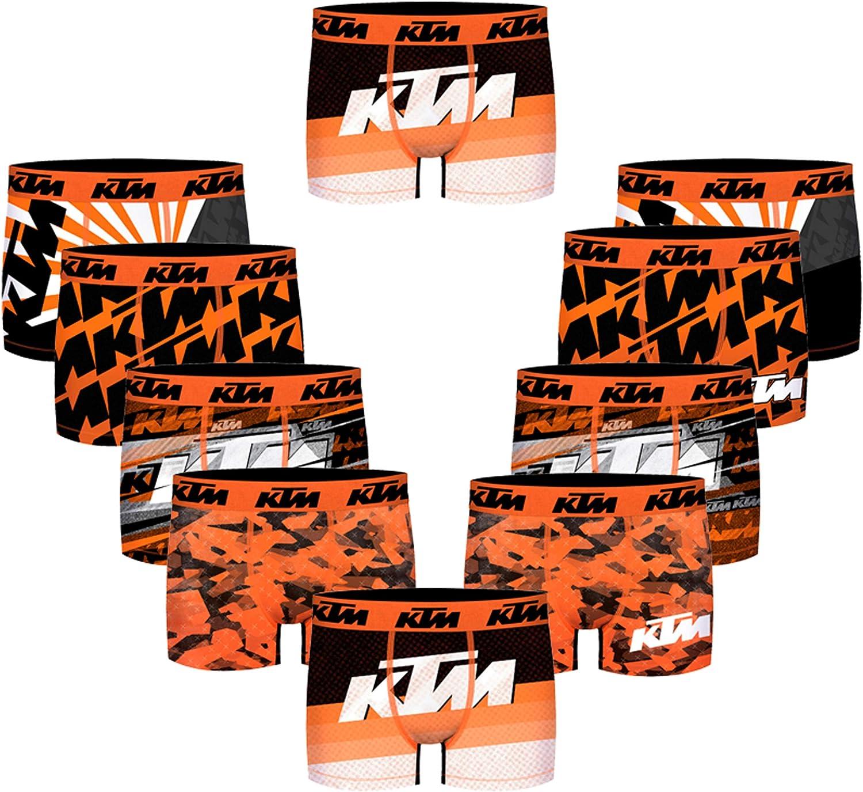 KTM Pack 10 Calzoncillos Motorbike para Hombre: Amazon.es: Ropa y ...