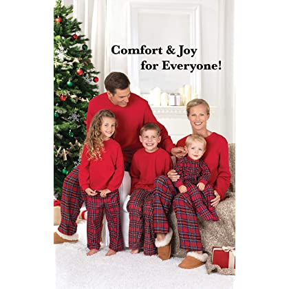 347f53484d ... Red PajamaGram Red Flannel Stewart Plaid Matching Family Christmas  Pajama Set