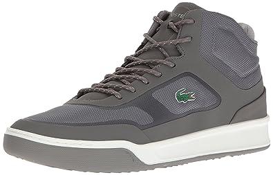 Lacoste Chaussures Explorateur Milieu De Baskets Hi Noir Noir DldZ9XID