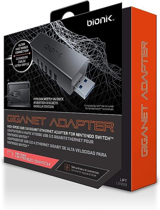 BIONIK High Speed USB 3.0 GIGABIT ETHERNET Adaptador para Nintendo ...