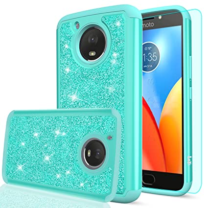 Amazon.com: Funda con purpurina para Moto E4 Plus (versión ...