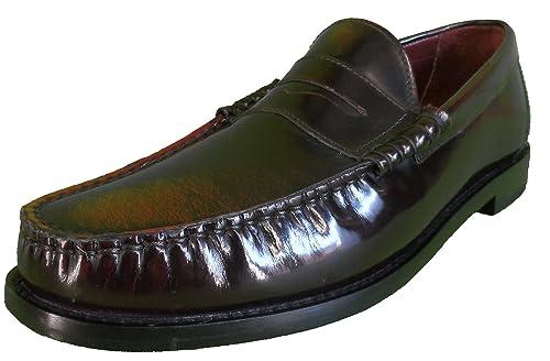 Ikon Men S Oxblood Rub Off Penny Loafers Amazon Co Uk Shoes Bags