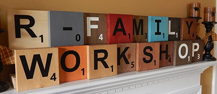 Amazon.com: Wood Scrabble Letter Tiles Large 5.5\