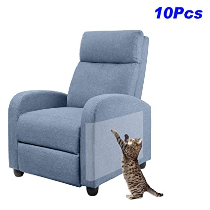 Awesome Anti Scratching Tapes 10Pcs Furniture Protectors For Cats 0 1Mm Cat Couch Protector Clear Double Sided Cat Scratch Deterrent Tape For Furniture Andrewgaddart Wooden Chair Designs For Living Room Andrewgaddartcom