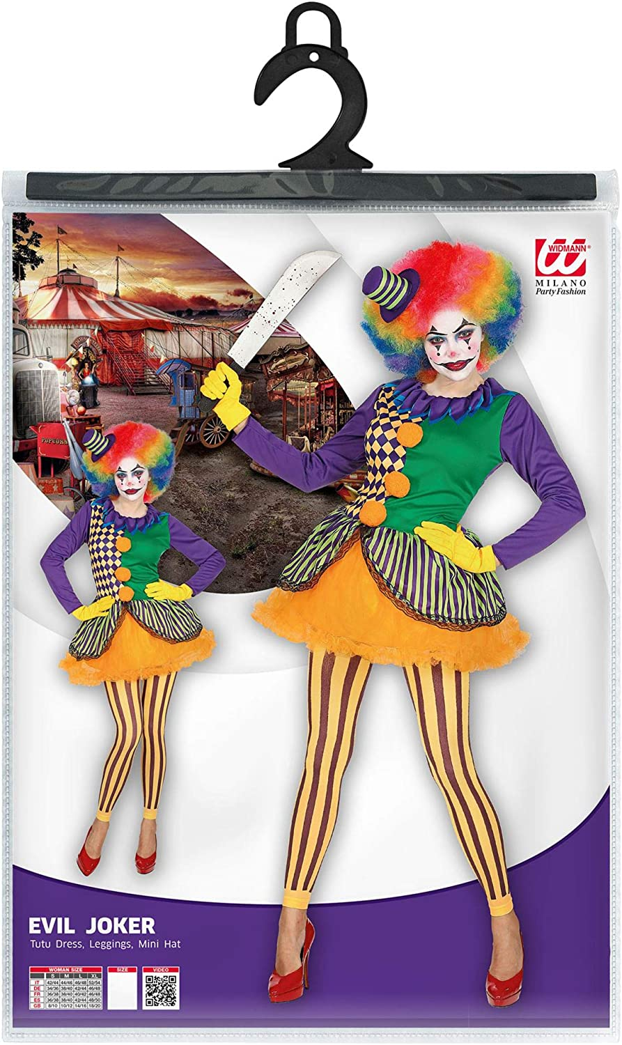 WIDMANN- Evil Joker Disfraz, Multicolor, S (02851): Amazon.es ...