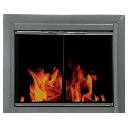 amazon com pleasant hearth cr 3402 craton fireplace glass door rh amazon com fireplace with glass doors open or closed fireplace with glass doors how to use