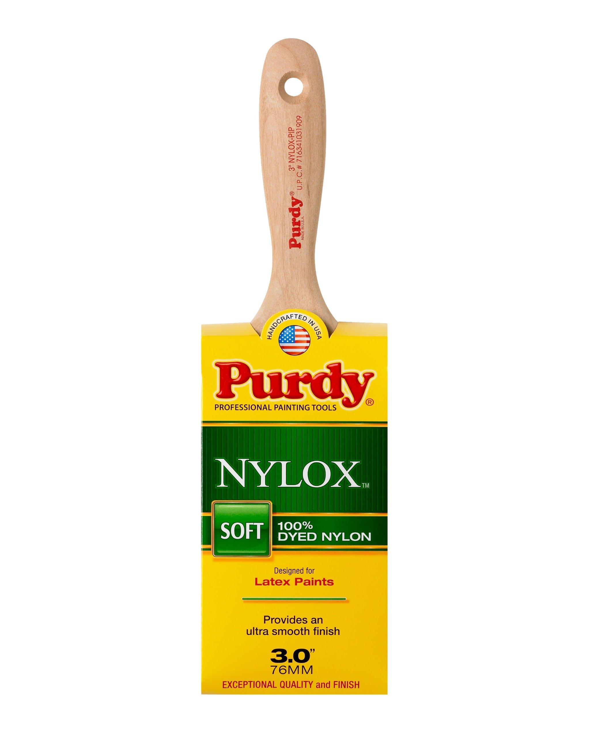 Purdy 144324230 Nylox Enamel/Wall Pip Brush (Case of 6), 3''