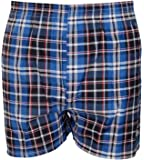 Mens Woven Check Boxer Assorted 6 Pack M