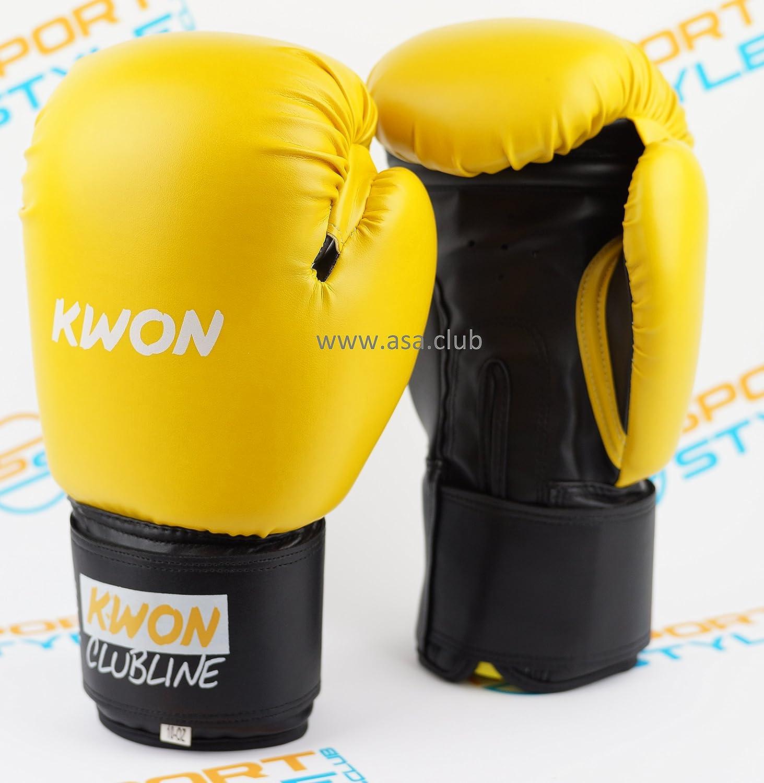 ボクシンググローブKwonポインタムエタイキックボクシング空手 B073Z7SK96 イエロー/ブラック 10oz