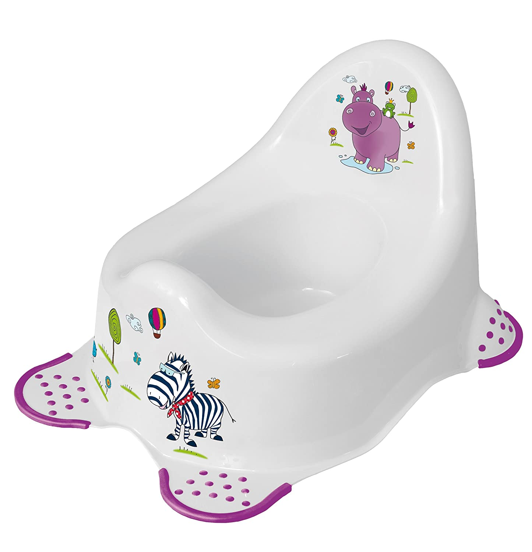 3er Set Hippo weiß Topf + WC Aufsatz + Hocker Toilettentrainer OKT Kids