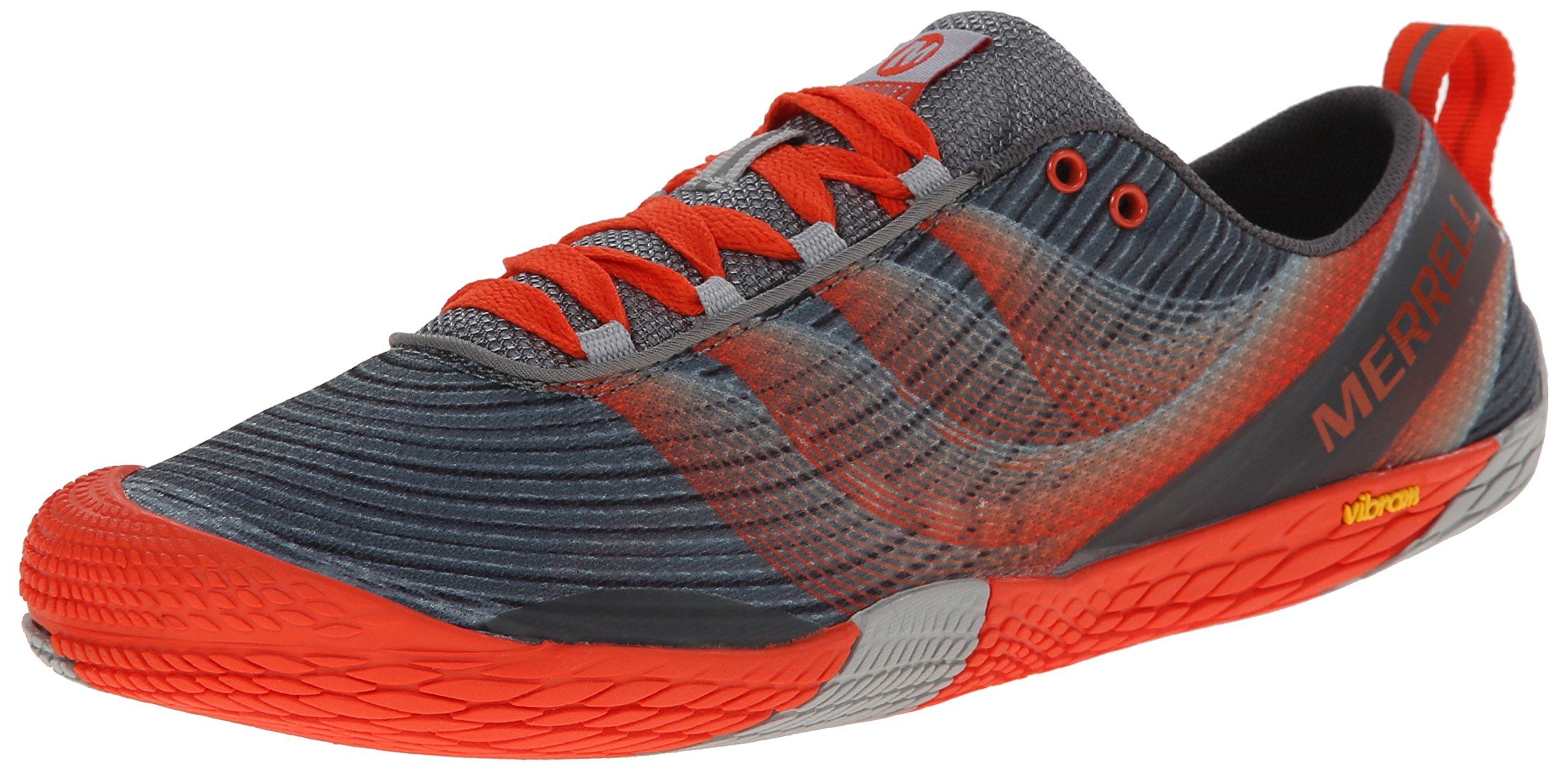 Merrell Men's Vapor Glove 2 Trail Running Shoe, Grey/Spicy Orange, 11 M US by Merrell (Image #1)