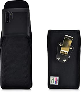 product image for Turtleback Belt Clip Case Designed for Samsung Galaxy Note 10+ Plus (2019) Vertical Holster Black Nylon Pouch with Heavy Duty Rotating Belt Clip, Made in USA