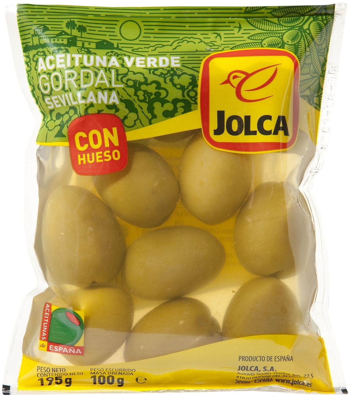 Jolca - Aceitunas Gordal Con Hueso Bolsa, 195 g: Amazon.es ...