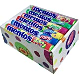 Mentos Variety Pack 6 Flavors (Pack of 18) - Mint, Spearmint, Fruit, Rainbow, Duo, and Strawberry Mix By CandyLab