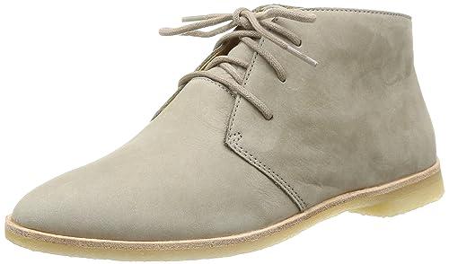 Phenia Desert - zapatos con cordones de cuero mujer, Black nubuck, 37.5 Clarks
