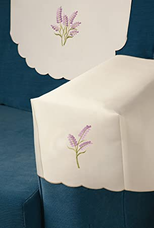 Lilac Lavender Sprig Embroidered Chair Arm Covers (SOLD OUT) or Chair backs on an & Lilac Lavender Sprig Embroidered Chair Arm Covers (SOLD OUT) or ...