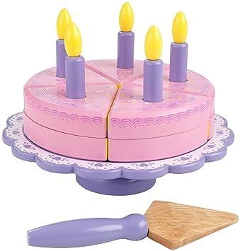 KidKraft 63154 - Juego de Pastel de cumpleaños