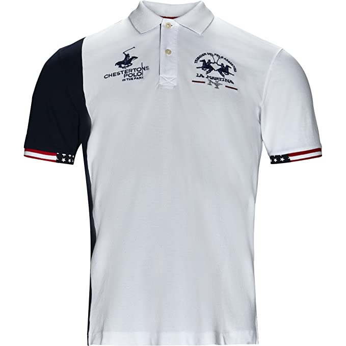 La Martina - Polo S/S Orval LMP326 00001 Optic White Bianco L ...